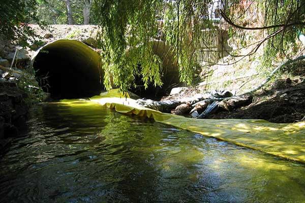 Kistdam rivier gebruik isolatie