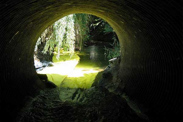 Kistdam onderhoud van de rivier gebruik