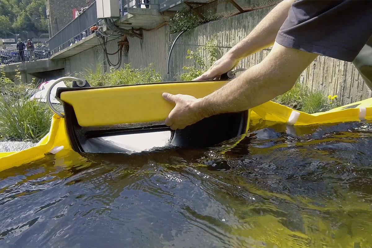 Overlaat en flexibele kanalisatie