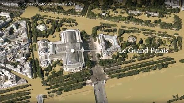simulatie van overstromingen in Parijs