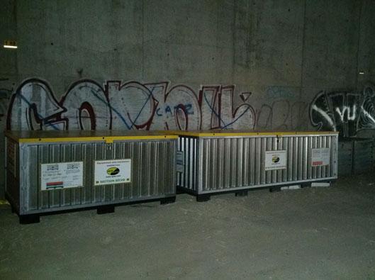 caissons snuiven bescherming tegen overstromingen